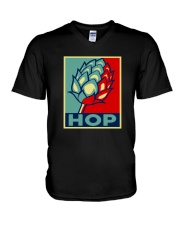 RETRO BEER - HOP VINTAGE V-Neck T-Shirt thumbnail