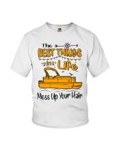 PONTOON BOAT GIFT - BEST PONTOON THINGS Youth T-Shirt thumbnail
