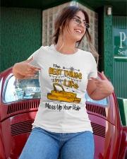 PONTOON BOAT GIFT - BEST PONTOON THINGS Ladies T-Shirt apparel-ladies-t-shirt-lifestyle-01
