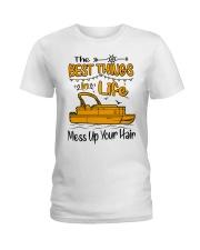 PONTOON BOAT GIFT - BEST PONTOON THINGS Ladies T-Shirt front