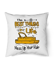 """PONTOON BOAT GIFT - BEST PONTOON THINGS Indoor Pillow - 16"""" x 16"""" thumbnail"""