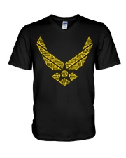 AVIATION RELATED GIFTS  - AIR FORCE V-Neck T-Shirt thumbnail