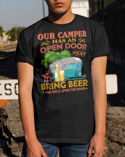 BONFIRE AND BEER - CAMPER Classic T-Shirt apparel-classic-tshirt-lifestyle-29