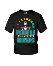 PONTOON GIFT - MY PONTOON DOESN'T RUN ON THANKS Youth T-Shirt thumbnail