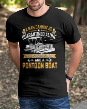 PONTOON BOAT GIFTS - QUARANTINED AND BEER Classic T-Shirt apparel-classic-tshirt-lifestyle-front-52
