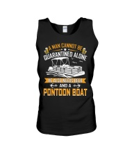 PONTOON BOAT GIFTS - QUARANTINED AND BEER Unisex Tank thumbnail