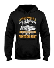 PONTOON BOAT GIFTS - QUARANTINED AND BEER Hooded Sweatshirt thumbnail