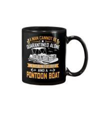 PONTOON BOAT GIFTS - QUARANTINED AND BEER Mug thumbnail