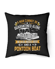 "PONTOON BOAT GIFTS - QUARANTINED AND BEER Indoor Pillow - 16"" x 16"" thumbnail"