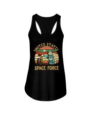 PILOT GIFT - VINTAGE SPACE FORCE Ladies Flowy Tank thumbnail