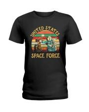 PILOT GIFT - VINTAGE SPACE FORCE Ladies T-Shirt thumbnail