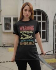 PILOT GIFT - WARNING AEROPLANES Classic T-Shirt apparel-classic-tshirt-lifestyle-19