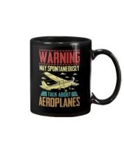 PILOT GIFT - WARNING AEROPLANES Mug thumbnail