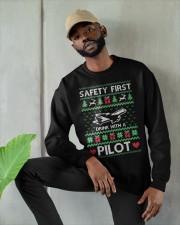 PILOT GIFT - SAFETY FIRST Crewneck Sweatshirt apparel-crewneck-sweatshirt-lifestyle-front-08