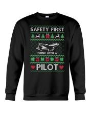 PILOT GIFT - SAFETY FIRST Crewneck Sweatshirt front