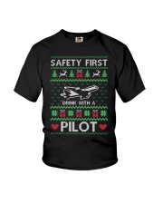 PILOT GIFT - SAFETY FIRST Youth T-Shirt thumbnail