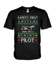 PILOT GIFT - SAFETY FIRST V-Neck T-Shirt thumbnail
