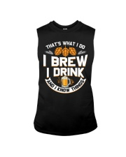 I BREW CRAFT BEER I DRINK AND I KNOW THINGS Sleeveless Tee thumbnail