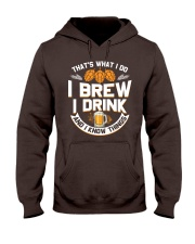 I BREW CRAFT BEER I DRINK AND I KNOW THINGS Hooded Sweatshirt thumbnail