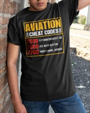 AVIATION RELATED GIFT - CHEAT CODE Classic T-Shirt apparel-classic-tshirt-lifestyle-27
