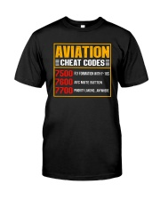 AVIATION RELATED GIFT - CHEAT CODE Classic T-Shirt front