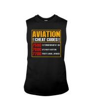 AVIATION RELATED GIFT - CHEAT CODE Sleeveless Tee thumbnail