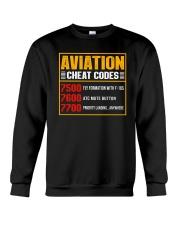AVIATION RELATED GIFT - CHEAT CODE Crewneck Sweatshirt thumbnail