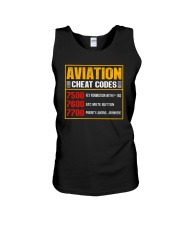 AVIATION RELATED GIFT - CHEAT CODE Unisex Tank thumbnail