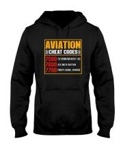 AVIATION RELATED GIFT - CHEAT CODE Hooded Sweatshirt thumbnail