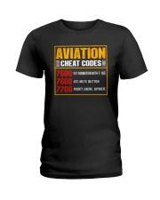 AVIATION RELATED GIFT - CHEAT CODE Ladies T-Shirt thumbnail