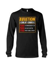 AVIATION RELATED GIFT - CHEAT CODE Long Sleeve Tee thumbnail