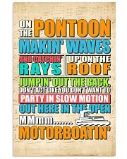 PONTOON BOAT GIFTS - ON THE PONTOON MOTORBOATING 11x17 Poster thumbnail