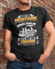 PONTOON BOAT GIFT - END UP DRUNK Classic T-Shirt apparel-classic-tshirt-lifestyle-26