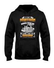 PONTOON BOAT GIFT - END UP DRUNK Hooded Sweatshirt thumbnail