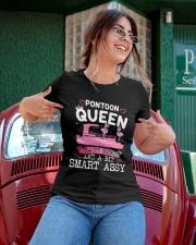 Pontoon Boat Gift Pontoon Queen Classy Sassy Ladies T-Shirt apparel-ladies-t-shirt-lifestyle-01