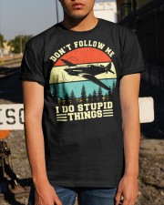 PILOT GIFTS - DON'T FOLLOW ME I DO STUPID THINGS Classic T-Shirt apparel-classic-tshirt-lifestyle-29