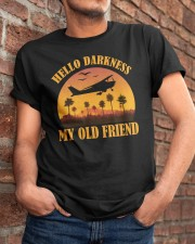 PILOT GIFT - HELLO DARKNESS MY OLD FRIEND Classic T-Shirt apparel-classic-tshirt-lifestyle-26