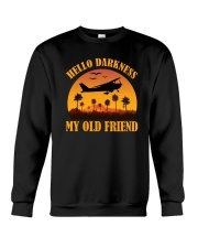 PILOT GIFT - HELLO DARKNESS MY OLD FRIEND Crewneck Sweatshirt thumbnail