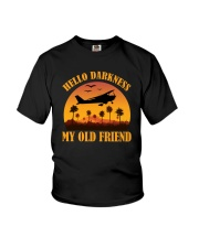 PILOT GIFT - HELLO DARKNESS MY OLD FRIEND Youth T-Shirt thumbnail