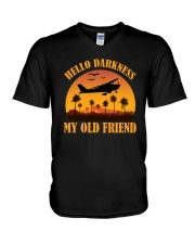 PILOT GIFT - HELLO DARKNESS MY OLD FRIEND V-Neck T-Shirt thumbnail