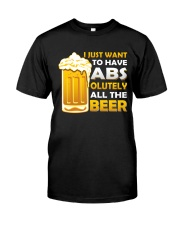 BREWERY MERCHANDISE - BEER ABS Classic T-Shirt front