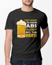 BREWERY MERCHANDISE - BEER ABS Classic T-Shirt lifestyle-mens-crewneck-front-13