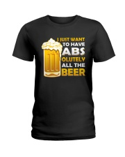 BREWERY MERCHANDISE - BEER ABS Ladies T-Shirt thumbnail