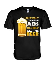BREWERY MERCHANDISE - BEER ABS V-Neck T-Shirt thumbnail