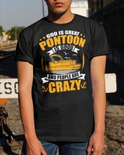 PONTOON BOAT GIFT - PEOPLE ARE CRAZY Classic T-Shirt apparel-classic-tshirt-lifestyle-29