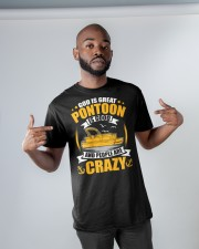 PONTOON BOAT GIFT - PEOPLE ARE CRAZY Classic T-Shirt apparel-classic-tshirt-lifestyle-front-32