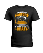 PONTOON BOAT GIFT - PEOPLE ARE CRAZY Ladies T-Shirt thumbnail