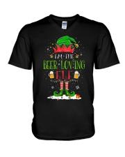 FUNNY BEER LOVER - ELF V-Neck T-Shirt thumbnail