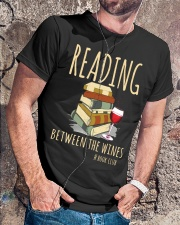 READING BETWEEN THE WINES Classic T-Shirt lifestyle-mens-crewneck-front-4