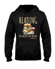 READING BETWEEN THE WINES Hooded Sweatshirt thumbnail